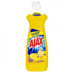 Ajax Ultra Triple Action Liquid Dish Soap, Lemon – 14 fluid ounce